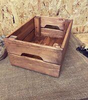Rustic & Vintage Wooden Crate Box Storage