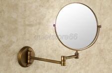 Bath Antique Double Sided Folding Brass Shave Makeup Mirror Magnifying qba627