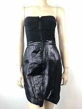Stunning Black Strapless 'Sovereignty' Dress By Camilla And Marc Size 8 A008