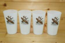 Anchor Hocking GAME BIRDS (4) Flat Tumblers | Canada Goose | USA VTG