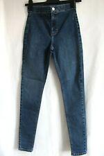 Topshop Moto Joni Dark Blue Stretch Skinny Jeans W28 Size10 To Fit L32