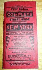 historisches NEW YORK Strassenverzeichnis ohne Karte 1949