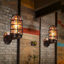 Industrial Loft Retro Wall Lamp Light Sconce Glass Fixtures Living Bedroom Decor