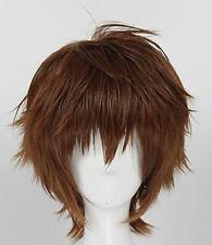 Code Geass Suzaku Kururugi Cosplay Perücke wig Japan Herren Kurz Braun Anime