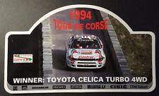 Aufkleber Rallye TOUR DE CORSE 1994 Toyota Celica Turbo CASTROL WRC Sticker TTE