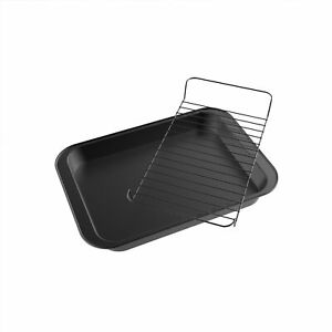 Roasting Pan Wire Rack Insert Drip Drain Fat Nonstick Healthy Cooking Non Stick