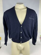 United Airlines Navy Blue Cardigan Women's Large Wool Acrylic