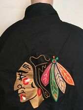 PRO PLAYER CHICAGO BLACKHAWKS NHL PUFFER JACKET Black EMBROIDERED Full Zip L NHL