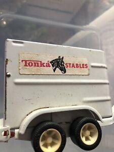 VINTAGE TONKA HORSE TRAILER  TONKA TOY HORSE TRANSPORTER TONKA STABLES 1970
