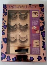 6 PAIRS VOLUME FALSE EYELASHES with GLUE - MEGA EYE LASH SET - HOLLYWOOD STYLE