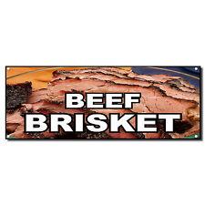 BEEF BRISKET Food Fair Restaurant Cafe Market Vinyl Banner Sign 2 ft x 4 ft