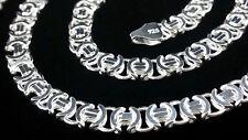 Flach Königskette Massive Etrusker Halskette 65cm echt Silber 925 Sterlingsilber