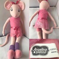 "Angelina Ballerina Large Soft Toy Plush 19"" Purple Leggings Socks"