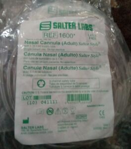Salter Labs REF1600 Nasal Cannula Adult w/ 7' Supply Tube Latex Free ~ Lot of(2)