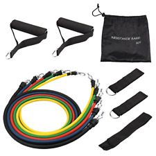 TOPELEK Exercise Resistance Bands Set Up to 100LBS, 5 Pcs Training Fitness Tubes