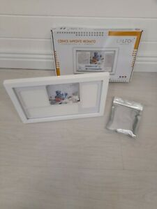 Baby photo frame 7in1 white clay handprint and footprint kit for newborns