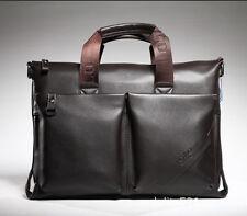 Men S Genuine Leather Briefcase Laptop Bag Messenger Shoulder Handbag