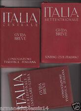 "3 VOLUMI ""ITALIA GUIDA BREVE"" - CONSOCIAZIONE TURISTICA/TOURING CLUB PRIMA ED."