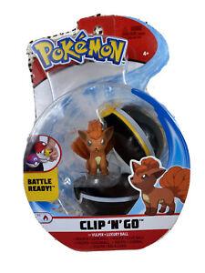 NIB Pokemon Clip 'n' Go Vulpix + Luxury Ball Action Figure Toy NEW
