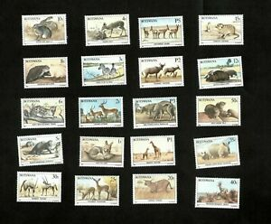 Botswana 1987 - SC#404-23 - Wildlife Conservation - Set of 20 Stamps - Def - MNH