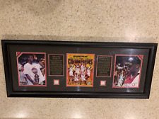 Miami Heat Dwyane Wade x Shaquille O'Neal 2006 Champions Plaque Game Used Jersey