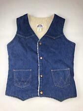 Wrangler Womens Medium Vest Sherpa Denim Vintage Jean (E5)