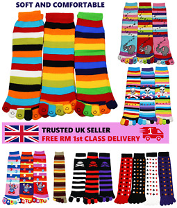 Ladies Toe Socks Soft Comfy Multi Striped Smiley Five Fingers Novelty Cartoon
