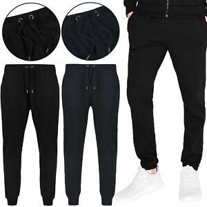 Mens Fleece Joggers Tracksuit Bottoms Trousers Gym Jogging Sweat Pants M-3XL