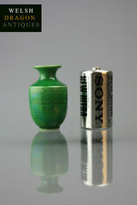 Fine Museum Chinese Antique Quality Tongzhi Period Green Minature Vase Rare!