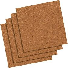 Quartet Cork Natural Tiles 2 Packs of 4 / Board Holder Bulletin 12x12 New Sealed