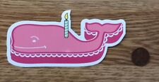 NEW Vineyard VINES Pink BIRTHDAY Cake CANDLE Whale STICKER Laptop DECAL Rare
