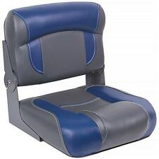 DeckMate® Low Back Folding Boat Seats (Charcoal & Blue)