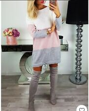 New Fashion Women's Femmes Filles Robe Pull Casual taille unique laine & mohair