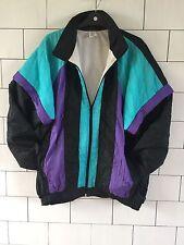 URBAN VINTAGE CON BRILLANTI Grassetto Festival anni'80 Shell Suit Giacca A VENTO JACKET #200