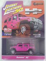 Johnny Lightning 1:64 Hummer H2 with Display Box Diecast Model Car Pink JLCP7210