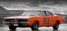 1969 DODGE CHARGER-Generale Lee 30x14 pollici Canvas-Dukes of Hazzard foto