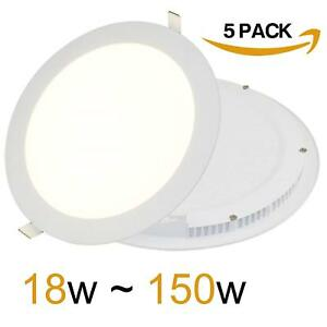5 X 18W LED Ceiling Round Panel Light 225x225x13mm Ultra Slim Recessed Down
