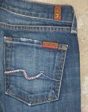 7 for all Mankind Bootcut jeans Sz 25 w Pink Crystal Pockets Distressed
