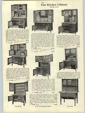 1916 PAPER AD 2 PG Wood Wooden Kitchen Cabinets Hoosier Type Golden Oak Deluxe