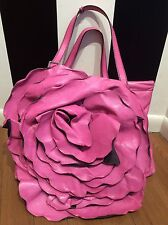 Valentino Pink Leather Flower Handbag