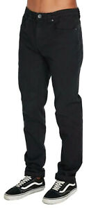 Billabong Outsider - Black Tapered Leg Stretch Jeans, Size 34. NWT. RRP $99.99.