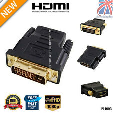 DVI-D (24+1) 25 Pin Male To HDMI Female Adapter Connector Converter Gold PH005