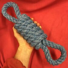"""Rope Dog Toy BLUE MASSIVE 3.5"""" Thick 16"""" healthy teeth Gum Tough Strong Durable"""
