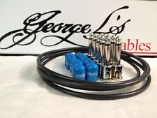 George L's 155 Guitar Pedal Cable Kit .155 Black / Blue / Nickel - 10/10/5