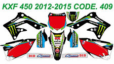 409 KAWASAKI KXF 450 2012-2015 Autocollants Déco Graphics Stickers Decals Kit