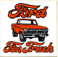 vtg hot rod sticker Ford Fun Truck Drag Race 70's nos old speed shop
