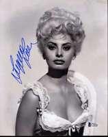 Sophia Loren Hand Signed Bas Beckett 8x10 Photo Authentic Autograph 4
