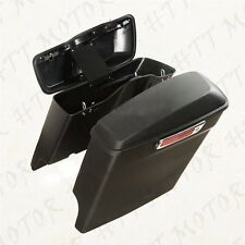 Stretched Saddlebags W/ Lib One Touch Latch Lock For 2014-2016 Harley Touring