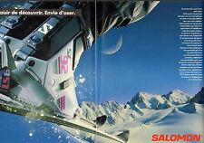 Publicité 1988  (Double page)  SALOMON Chaussures de ski sport matériel vacances