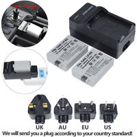 TWO LP-E5 LPE5 Battery +Charger for Canon EOS Rebel XSi T1i XS 450D 500D Kiss X3
